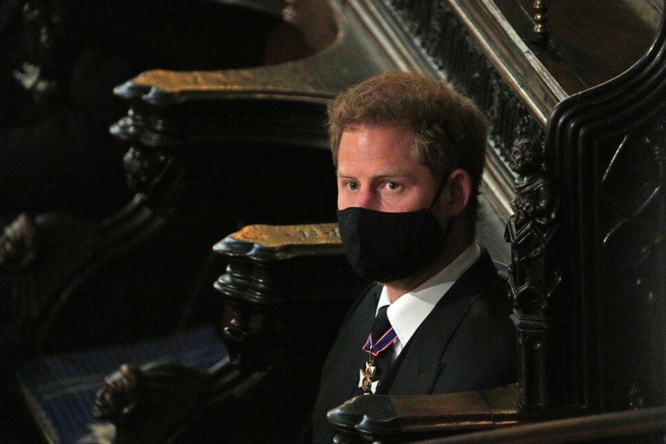 Harry en el funeral del príncipe Felipe de Edimburgo