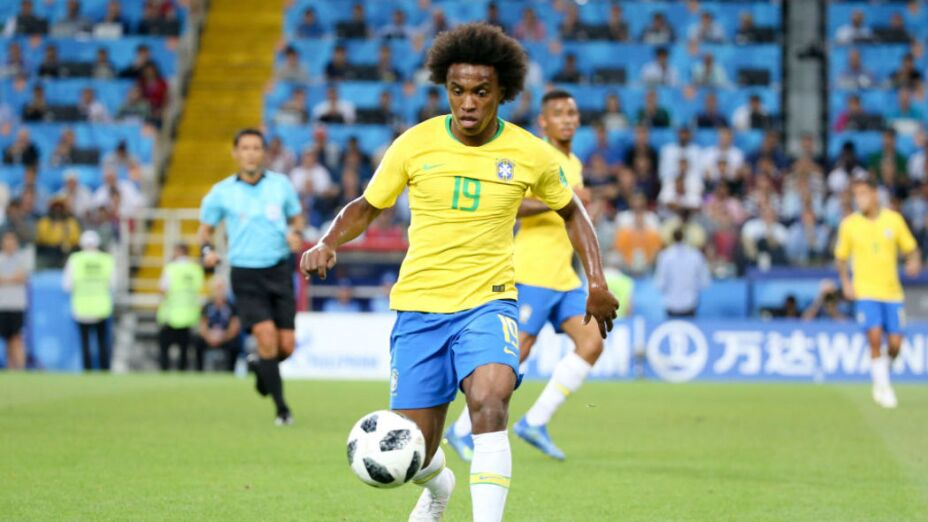 Willian Borges da Silva de la selección brasileña
