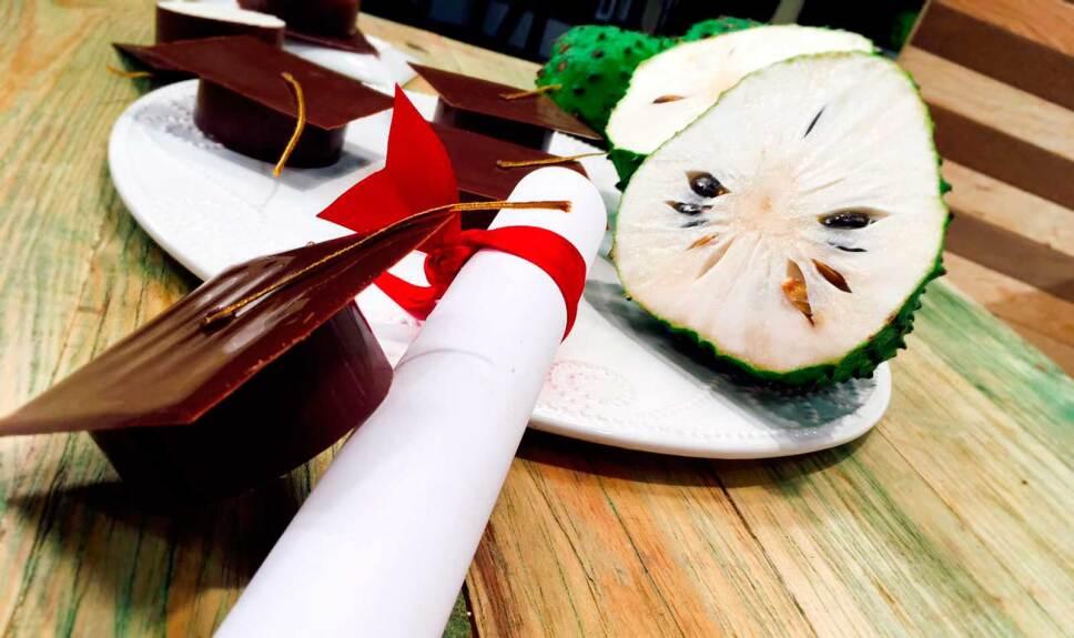 Receta Birretes de chocolate y cremoso de guanábana