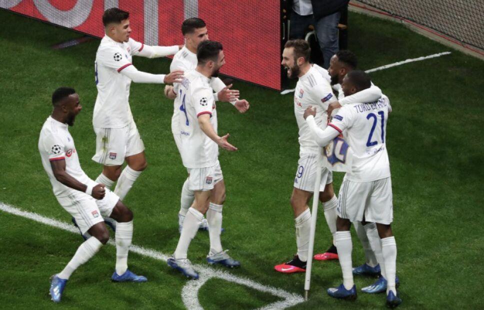 El gol que le da la ventaja al Lyon en la eliminatoria