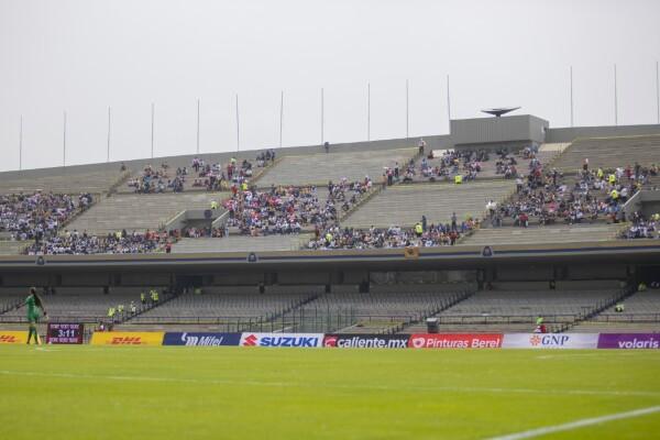 Pumas Femenil en el Estadio Olímpico Universitario