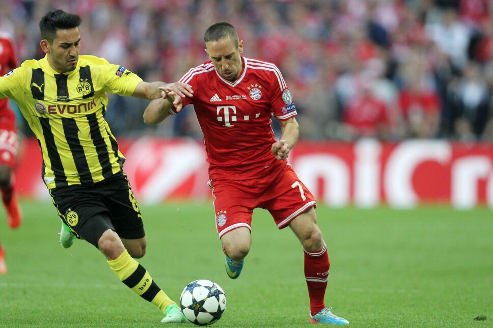Gundogan Ribery Bayern Dortmund Champions League