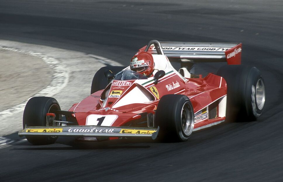 Niki Lauda en Ferrari