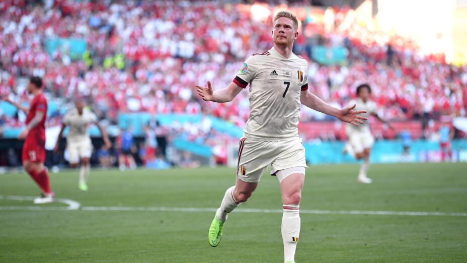 Bélgica derrota a Dinamarca Eurocopa 2020 De Bruyne