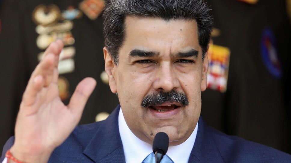 Foto de archivo del presidente de Venezuela, Nicolas Maduro, en una rueda de prensa en el Palacio de Miraflores en Caracas