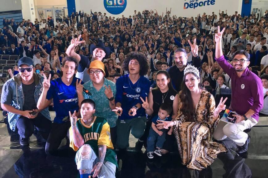 Selfie León con los jóvenes de León, Gto