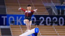 Alexa Moreno en la viga de equilibrio de Tokyo 2020