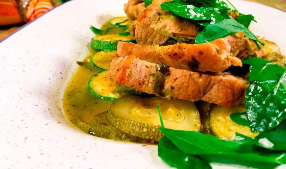 Receta Lomo de cerdo en salsa verde