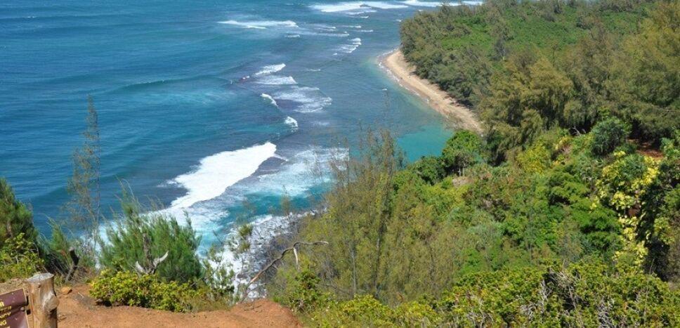 Playa Hanakapiai Hawaii Foto Especial