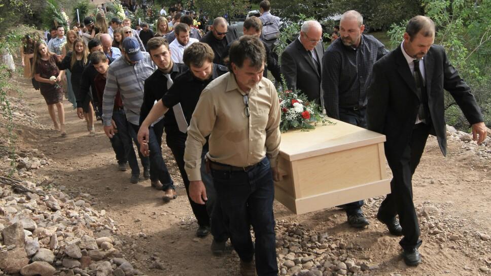 Exequias de los integrantes asesinados en la familia LeBarón
