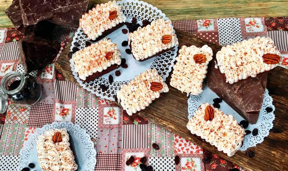 Receta Pastelitos de chocolate sin gluten y sin azúcar