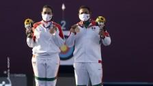 Alejandra Valencia y Luis Álvarez, medalla