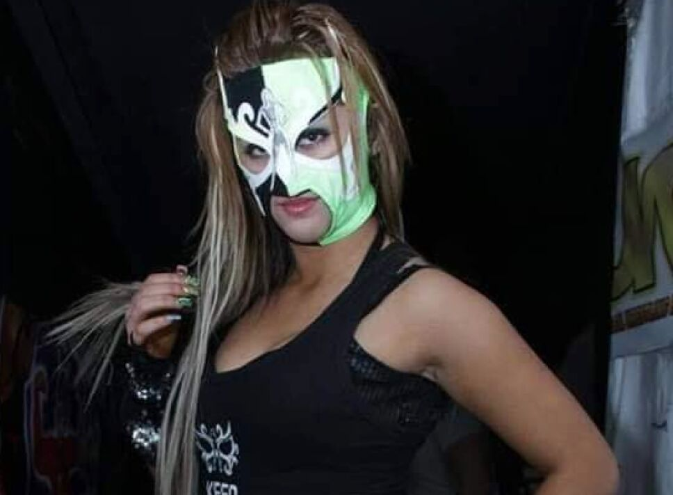Lady Shani en su personaje de Sexy Lady