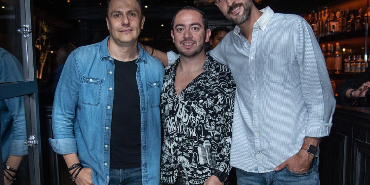 José Luis Estrada, Edgar Cuenca y Alberto Padilla