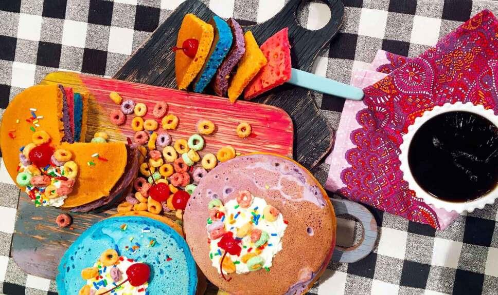 Receta Hot cakes Arcoiris Cocineros Mexicanos