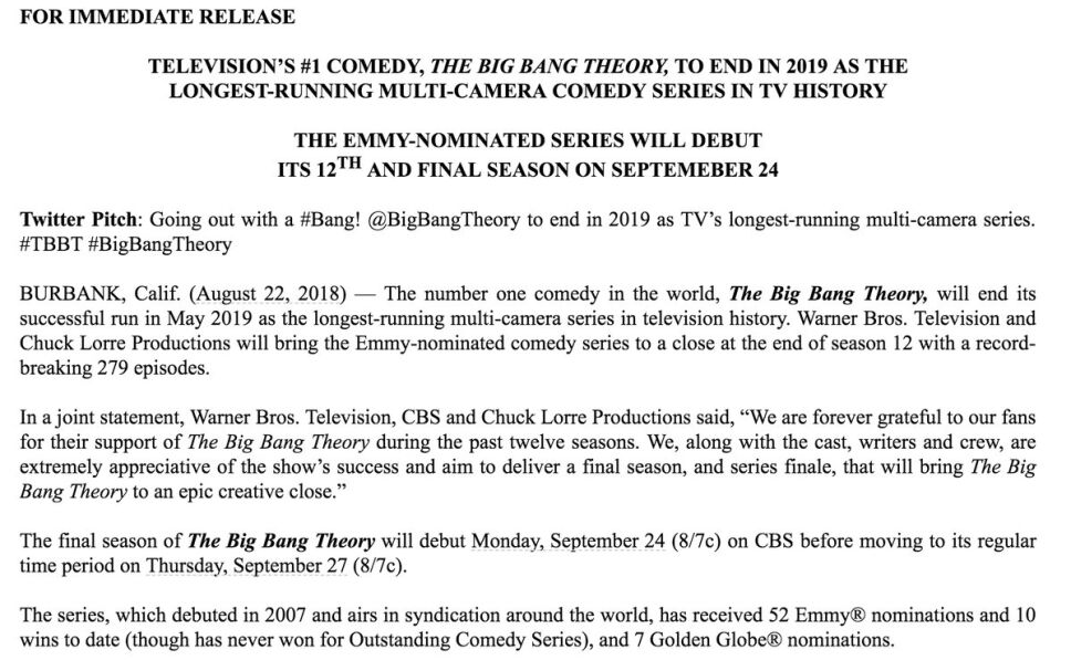 The Big Bang Theory prepara su última temporada