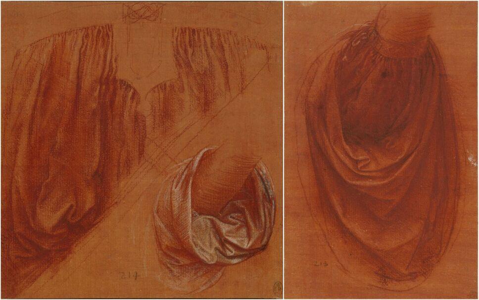 estudios de la composición y telas de Salvator Mundi