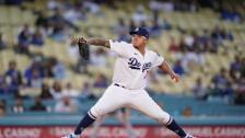 Julio Urías lanzador de los Dodgers de Los Angeles