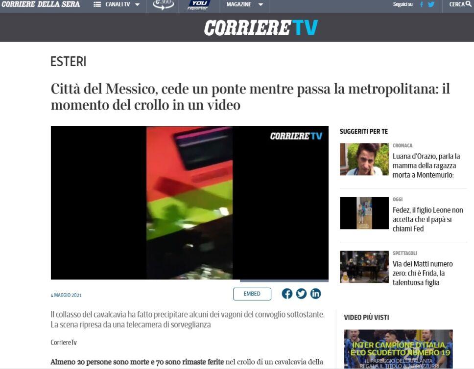 Tragedia en el metro de la CDMX