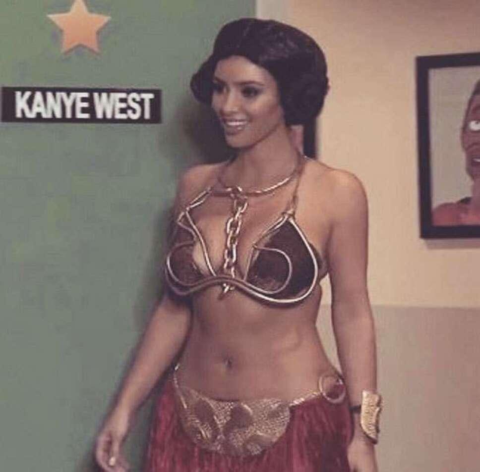 Kim Kardashian como la princesa Leia