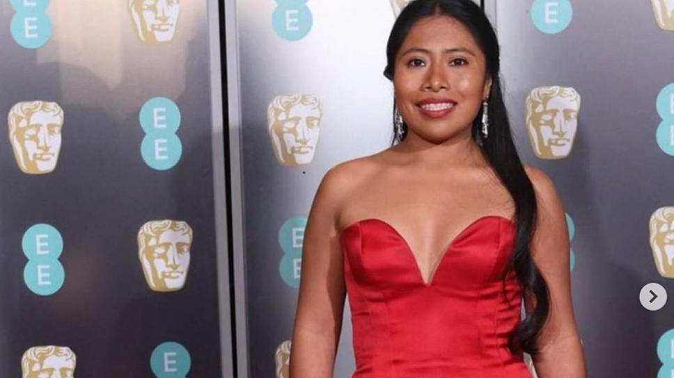 Yalitza Aparicio en la alfombra roja de los BAFTA Awards/ Foto: Instagram