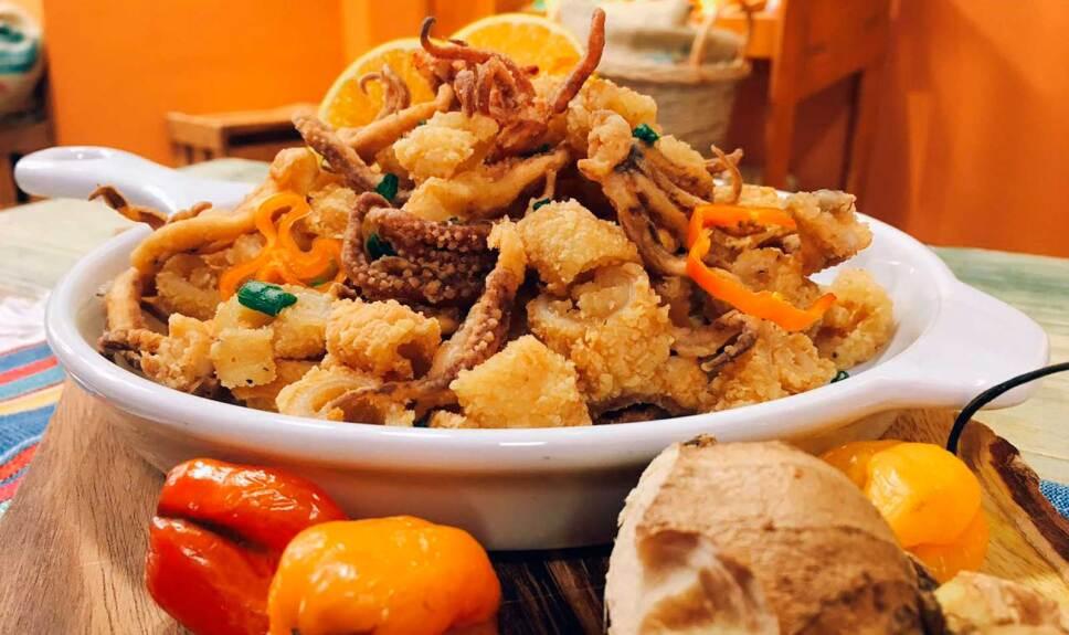Receta Aros de calamar frito con miel de habanero