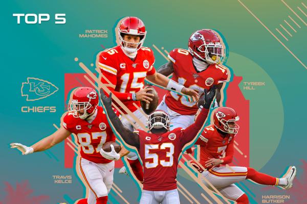 Los 5 mejores jugadores de Kansas City Chiefs en la temporada 100 de la NFL
