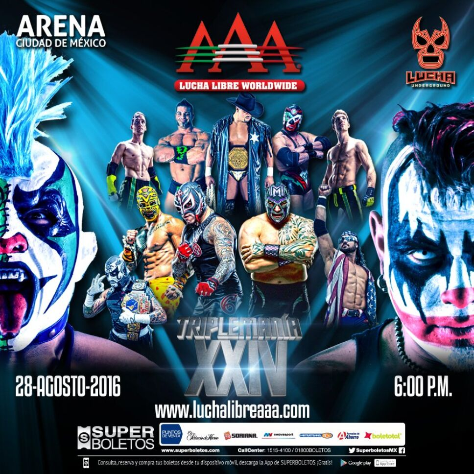 La Triplemania es el evento por excelencia de la Lucha Libre