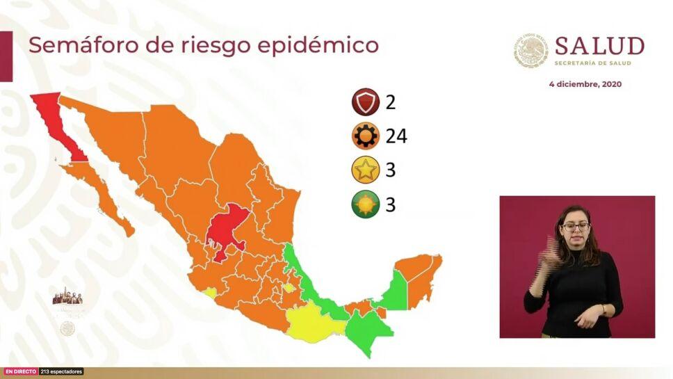 Veracruz pasa a semáforo verde junto con Chiapas y Campeche