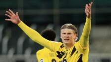 Haaland se destapó con dos golazos ante el Borussia Mönchengladbach