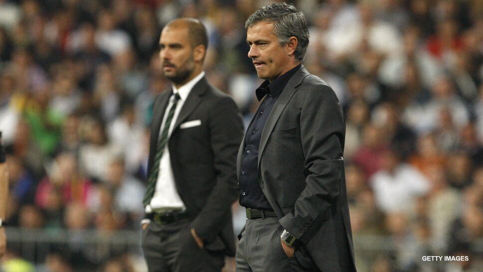 Guardiola y José Mourinho