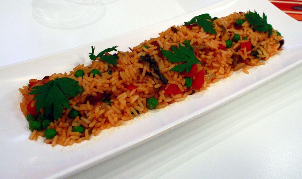 arroz frito español, que hay de comer