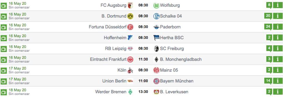 Jornada 26 de la Bundesliga