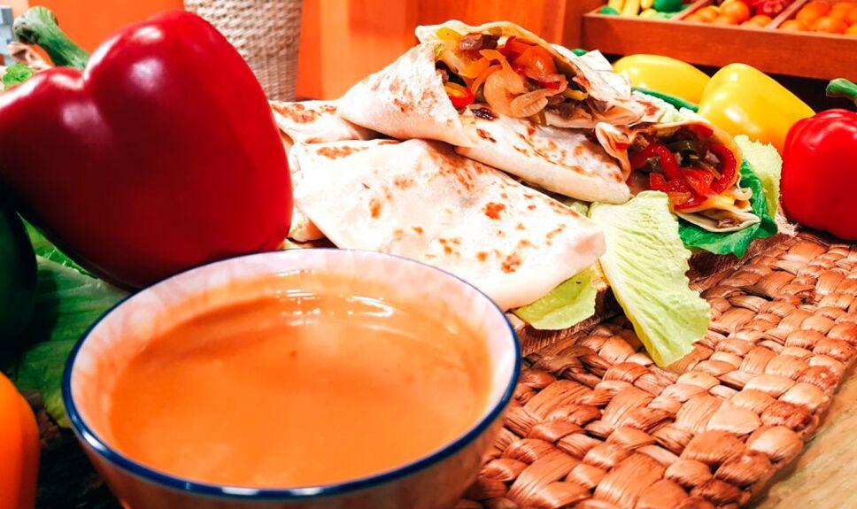 Receta Burritos teriyaki en tostador