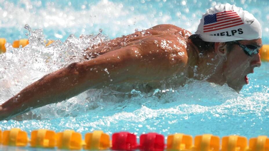 Michael Phelps en Atenas 2004