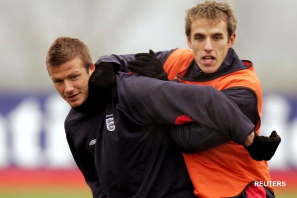 Phil Neville con David Beckham