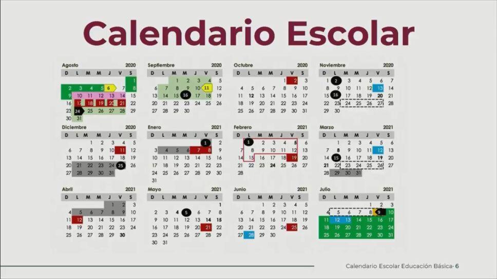 Presentan calendario escolar de la SEP para el ciclo escolar 2020-2021