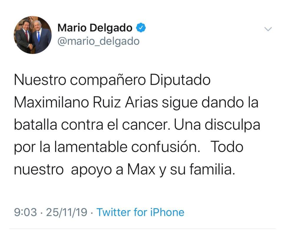 Mario delgado tuit 2