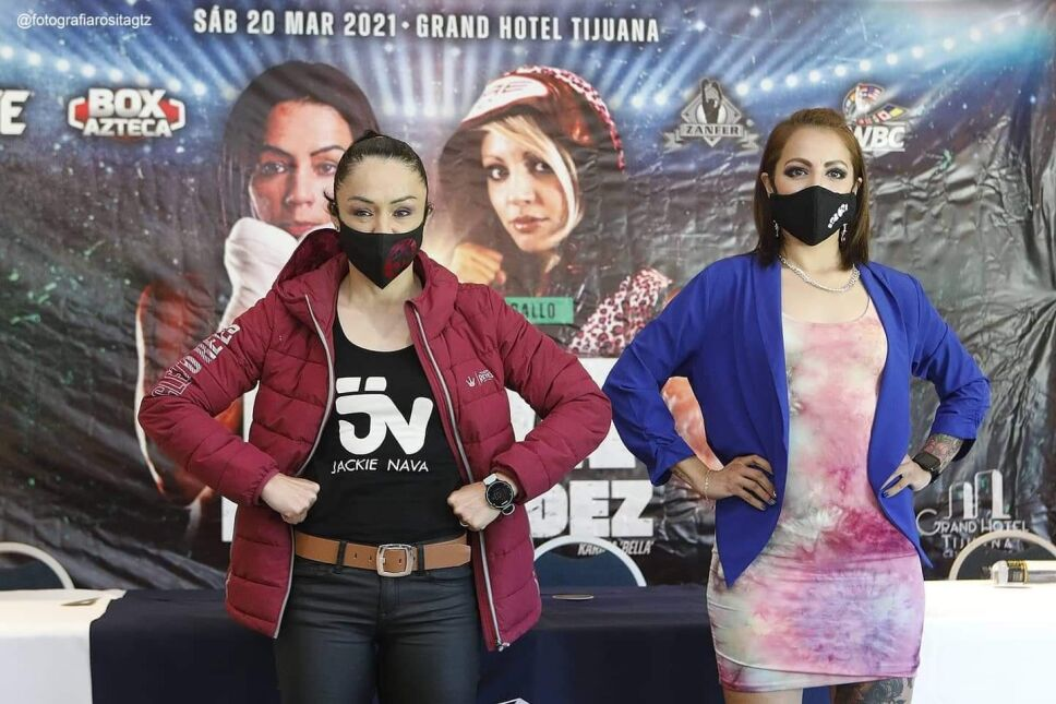 Jackie Nava vs Karina Fernández boxeo