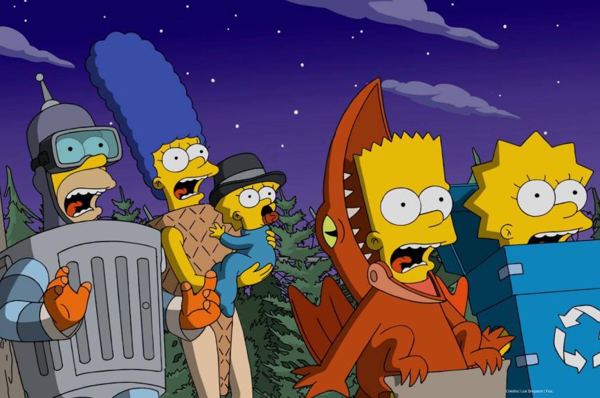 Casita del horror Los Simpson