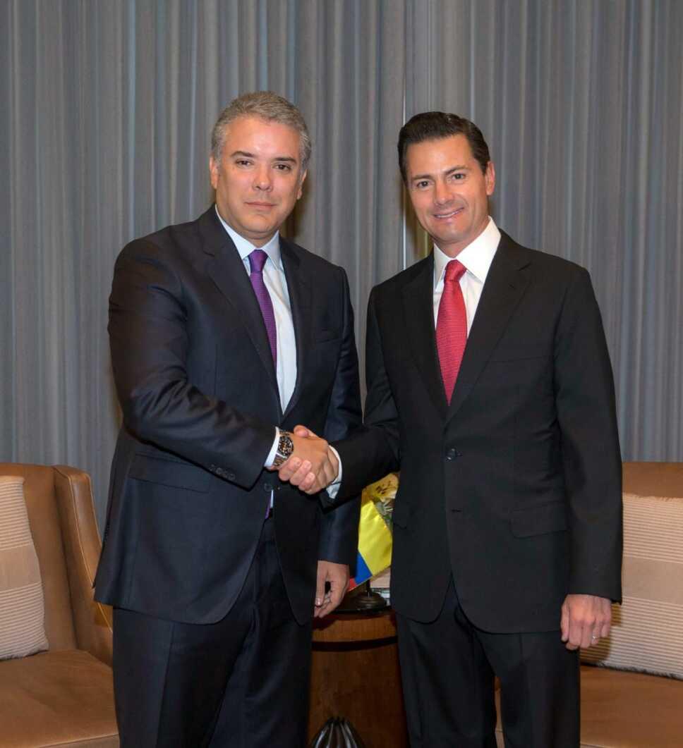 Peña reunión Colombia
