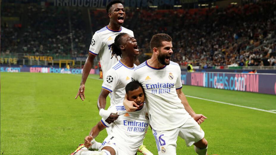 Real Madrid derrotó al Inter con gol de último minuto de Rodrygo