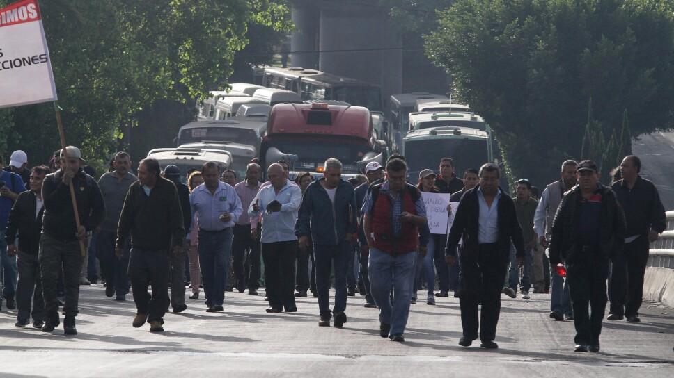 Manifestación de Transportistas en la Ciudad de México