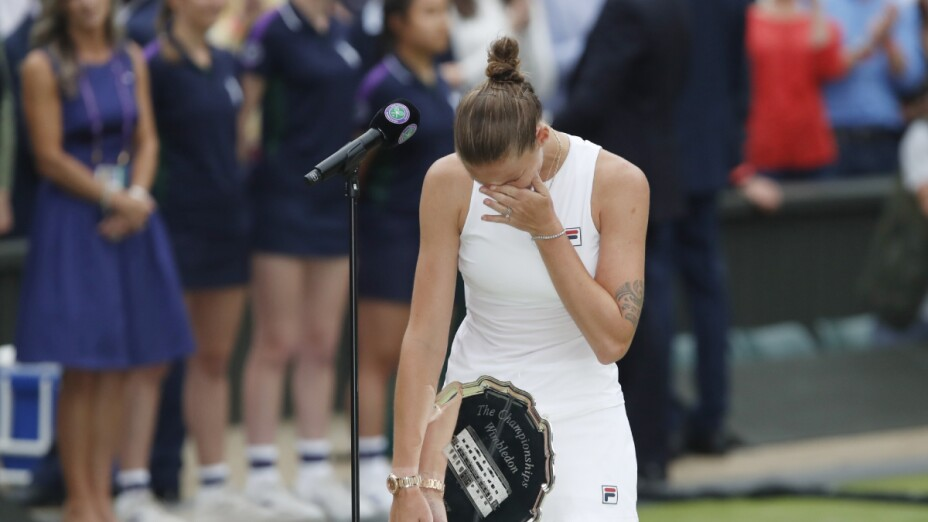 Karolina Pliskova llora su derrota