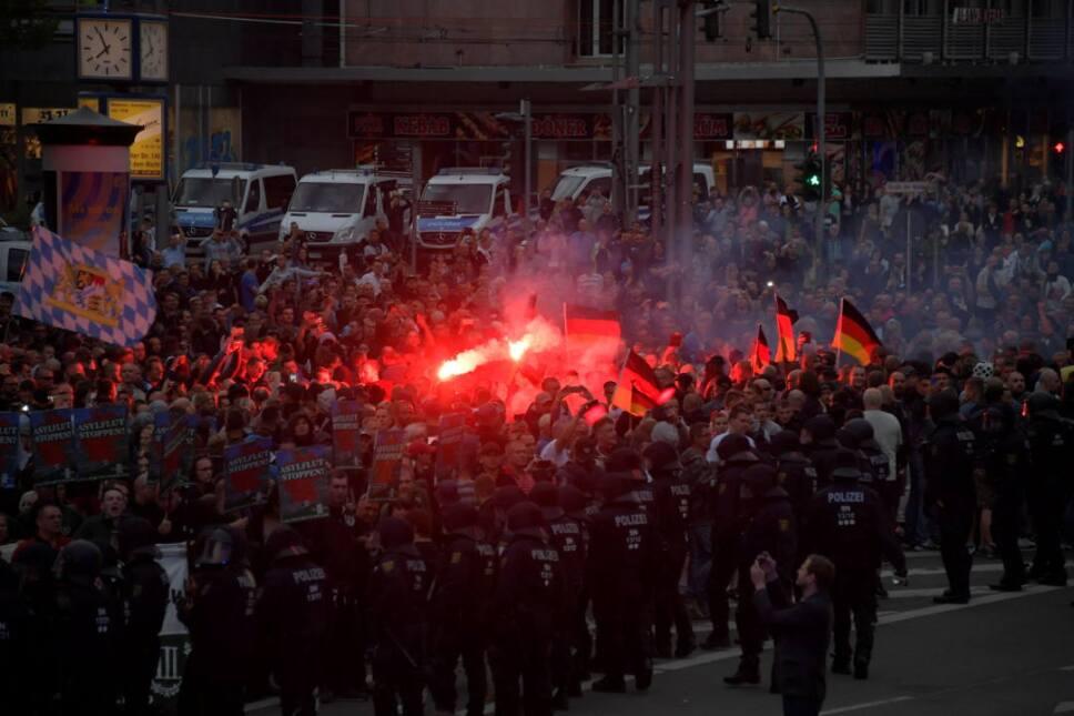 Chemnitz protestas ultraderecha 2