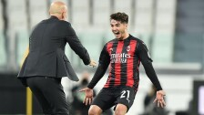 Brahim celebra con el AC Milán