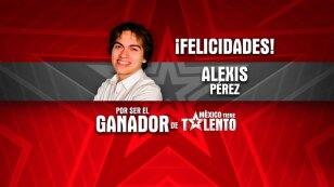 Alexis Pérez Ganador de México Tiene Talento