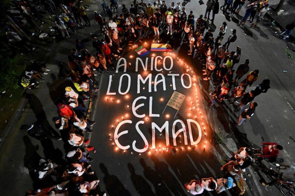 homenaje nicolas guerrero protestas colombia