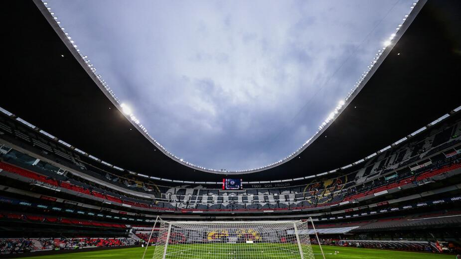 Estadio Azteca previo a la Final entre Cruz Azul y Santos