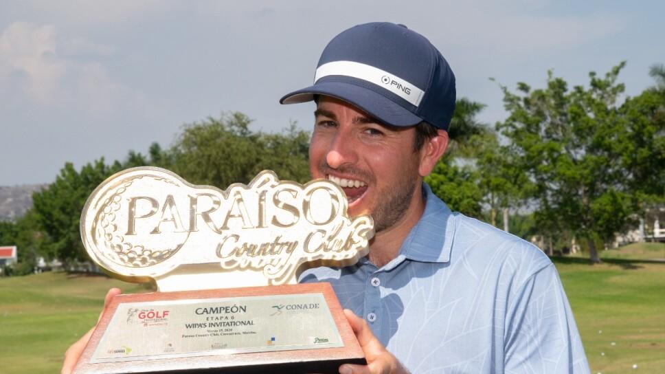 El tijuanense Armando Favela se llevó hoy su tercer título en la Gira de Golf Profesional Banorte